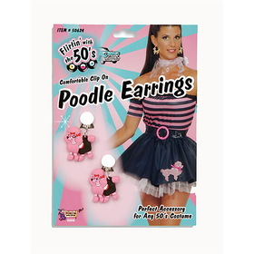 FORUM NOVELTIES 62236 Poodle Earrings