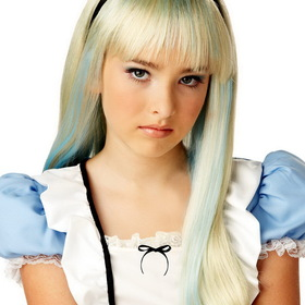 CALIFORNIA COSTUME COLLECTIONS 70515CC Children's Alice In Wonderland Blonde & Blue Wig