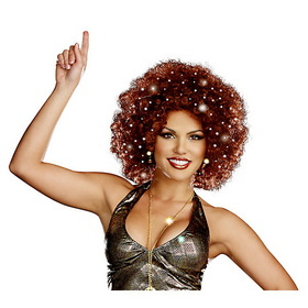 DREAMGIRL 8314DG Women's Sexy Light-Up Afro Wig