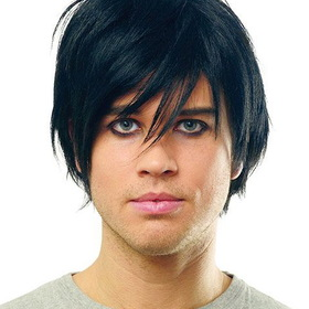 FRANCOAMERICAN NOVELTY ATC724809-01 Adult Emo Wig - Black