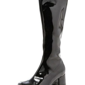 E175-DORAB-XL Black Patent Go Go Boot Child