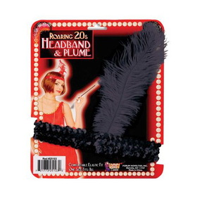 FORUM NOVELTIES F60988 Black Sequin Flapper Headband