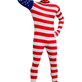 R880513-M Men's USA Flag Skin Suit Adult Costume