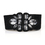 TopTie Wide Waist Belt, Big Shiny Rhinestone - Black