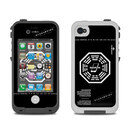 DecalGirl Lifeproof iPhone 4 Case Skin - Dharma Black