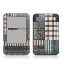 DecalGirl Kindle Keyboard Skin - Country Chic Blue (Skin Only)