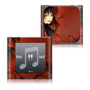 DecalGirl Apple iPod nano (6G) Skin - Black Flower (Skin Only)