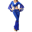 BellyLady Belly Dancer Costume, Lace Wrap Top And Pants Sets
