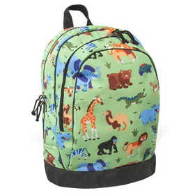 Wildkin 14080 Olive Kids Wild Animals Sidekick Backpack, Green
