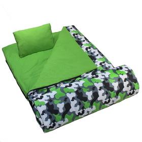 Wildkin 17088 Camo Sleeping Bag, Green