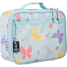 Wildkin 33113 Olive Kids Butterly Garden Lunch Box, Blue