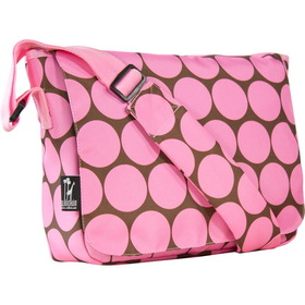 Wildkin 41085 Big Dots Pink Kickstart Messenger Bag, Pink