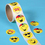 GOGO Goofy Smile Face Roll Stickers, Happy Faces, 100 Stickers / Roll, Party Suppliers