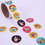 GOGO HAPPY BIRTHDAY Stickers, 100 Stickers / Roll, Great for Party Decoration