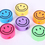 GOGO Colorful Smile Face Pencil Sharpeners, Stationery Gift for Kids