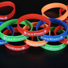 I AM A WINNER Silicone Bracelets, Accessories for Kids, Graduation Gift, Price/ONE DOZEN