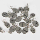 GOGO Elliptical Metal Pendants, 24 pcs / Pack