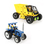 GOGO Building Blocks / 3D Puzzles, Tractor (50 pcs) + Forklift Truck (106 pcs), Christmas Gift Idea