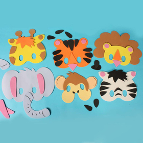 GOGO Design Your Own! Foam Animal Masks, Set of 6, Party Favors, Price/SET