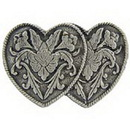 "Eagle Emblems PIN-HOL, HEART, TWO, PWT  (1"")"