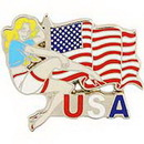 """Eagle Emblems PIN-NOSE, FLY GIRL  (1"""")"""