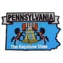 Eagle Emblems PM6739 Patch-Pennsylvania (State Map) (3