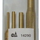 S & G Tool Aid TA14290 4 Piece Brass Pin Punch Set