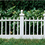 City Pickers 2096DS Deluxe Colonial Resin Fence, Black