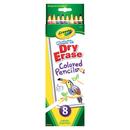 Crayola BIN988663 Crayola Dry Erase Washable Colored - Pencils 8Pk