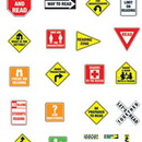 Carson Dellosa CD-110065 Bb Set Reading Road Signs