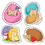 Carson Dellosa CD-168183 Happy Hedgehogs Shape Stickers