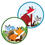 Carson Dellosa CD-188061 Playful Foxes Two Sided Decorations - Gr Pk-5