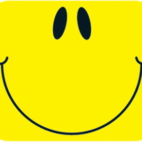 Carson Dellosa CD-9474 Name Tags Smiley Face Yellow 40/Pk Self-Adhesive, Price/EA