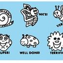 Center Enterprises CE-608 Grading Stamps Happy Bugs