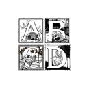 Chenille Kraft CK-4647 Alphabet Collection Embossed Paper - Set