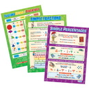 Daydream Education DAYDMA2R 3 Poster Set Fractions Decimals And Percentages 16.5 X 23.5