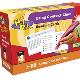Educational Insights EI-2793 Hot Dots Reading Comprehension Kits Set 4 Using Context Clues, Price/EA