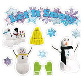 Edupress EP-3600 Let It Snow Mini Bulletin Board Set, Price/EA