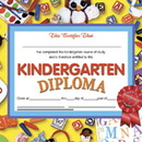 Hayes School Publishing H-VA603 Diplomas Kindergarten 30/Pk 8.5X11 Red Ribbon