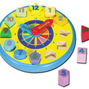Melissa & Doug LCI159 Wooden Shape Sorting Clock
