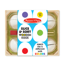 Melissa & Doug LCI9301 Slice & Sort Wooden Eggs