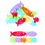 Learning Resources LER1774 Fish In Line Nonstandard - Measurement Set