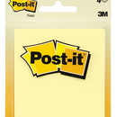 3M MMM5400 Post-It Notes Canary Yellow 4 Pads 50 Sheets Each