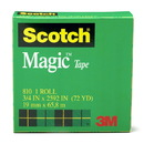 3M MMM810341296 Tape Scotch Magic 3/4 X 36 Yds