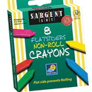 Sargent Art SAR350591 Flatsiders No-Roll Crayons 8 Count