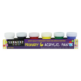 Sargent Art SAR665420 Acrylic Paint 6 Color Set, Price/EA