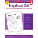 Scholastic Teaching Resources SC-546055 Comprehension Skills Gr 4 40 Short Passages For Close Reading
