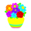 Trend Enterprises T-10077 Colorful Bouquet Accents