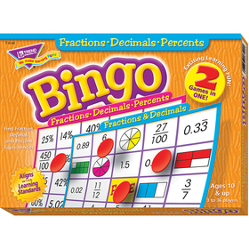 Trend Enterprises T-6142 Fractions Decimals & Percents Bingo Game, Price/EA