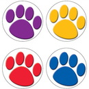 Teacher Created Resources TCR4056 Colorful Paw Prints Wear Em Badges